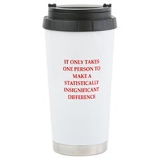 Funny statistics joke Travel Coffee Mug