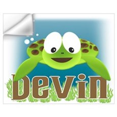 Adorable Devin Turtle Wall Decal