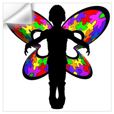 Autistic Butterfly Wall Decal