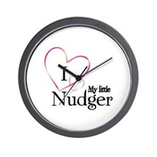 I love my little nudger Wall Clock