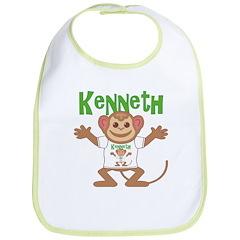Little Monkey Kenneth Bib