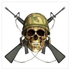Vietnam Skull Poster