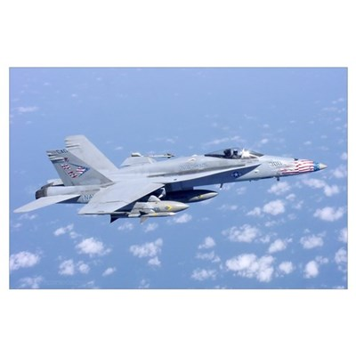 F-18 with Combat Load Poster