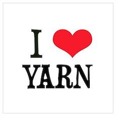 I Love Yarn Poster