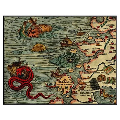 """""""Ancient Norway Map"""" Poster"""