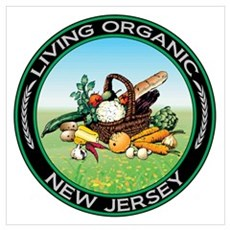 Living Organic New Jersey Poster