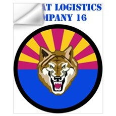Combat Logistics Company 16 with Text Wall Decal