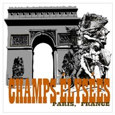 Champ Elysees Paris Canvas Art