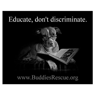 Educate, Don't Discriminate Canvas Art