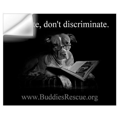 Educate, Don't Discriminate Wall Decal