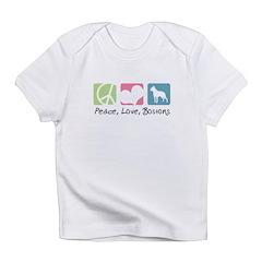 Peace, Love, Bostons Infant T-Shirt