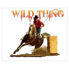 Wild Barrel cowgirls Poster