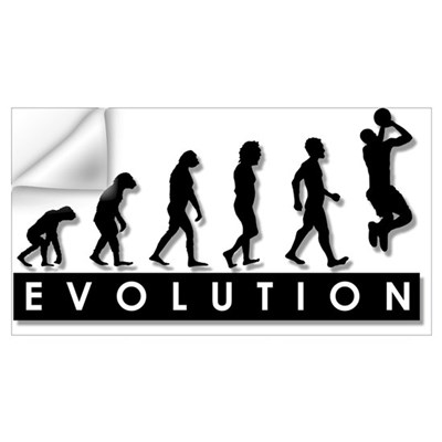 Evolution of the Basketball P Wall Decal