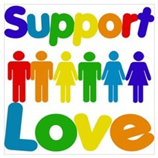 Support Love Poster