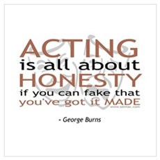 George Burns Acting Quote Framed Print