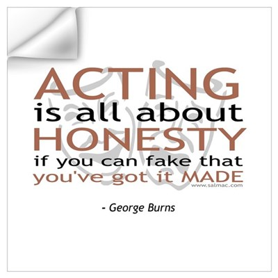 George Burns Acting Quote Wall Decal