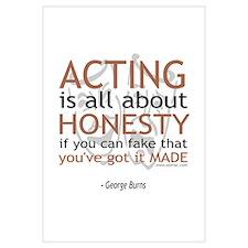 George Burns Acting Quote