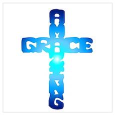 Amazing Grace Cross Poster
