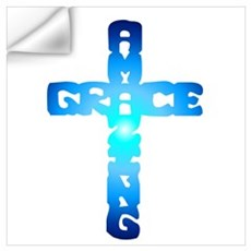 Amazing Grace Cross Wall Decal