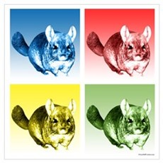 Chinchilla Pop Framed Print