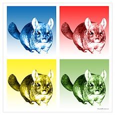 Chinchilla Pop Poster