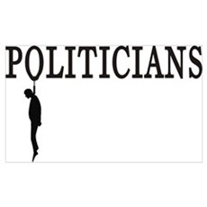 Hanging Politicians Poster