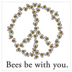 Bees be with you (peace symbo Canvas Art