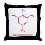 TNT Molecule Throw Pillow
