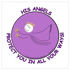 ANGEL PROTECTION PURPLE Poster