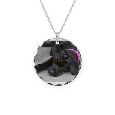 Ahhhh no puppy Necklace Circle Charm