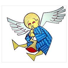 Trumpet Angel Poster