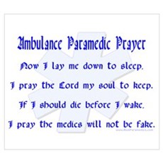 Ambulance Paramedic Prayer Poster