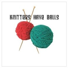 Knitters have Balls Canvas Art