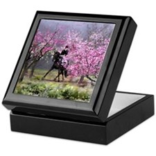 Spring Half Pass Dressage Keepsake Box
