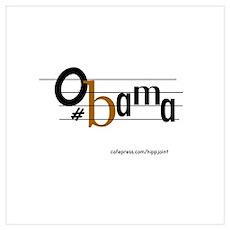 musical bar,Obama Poster
