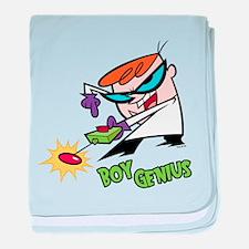 Dexter Boy Genius baby blanket