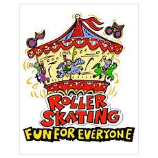 roller skating Poster