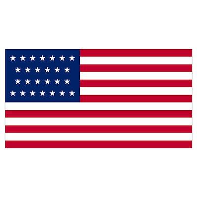 26 Star US Flag Poster