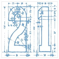 21 Blueprint Canvas Art