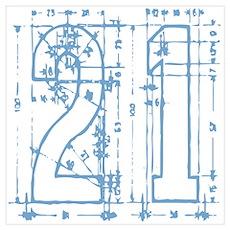 21 Blueprint Poster