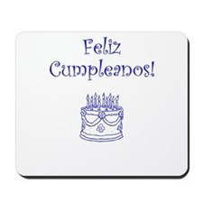 Spanish Birthday Blue Mousepad
