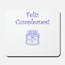 Spanish Birthday Blue Mousepad
