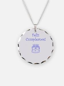 Spanish Birthday Blue Necklace