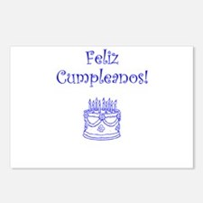 Spanish Birthday Blue Postcards (Package of 8)