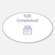 Spanish Birthday Blue Decal
