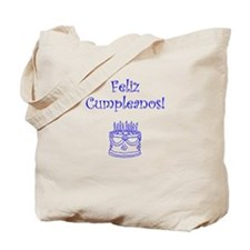 Spanish Birthday Blue Tote Bag