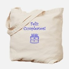 Spanish Birthday Blue Tote Bag