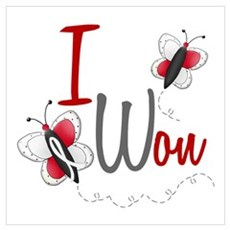 I Won 1 Butterfly 2 PEARL/WHITE Poster