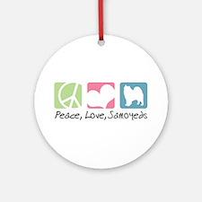 Peace, Love, Samoyeds Ornament (Round)