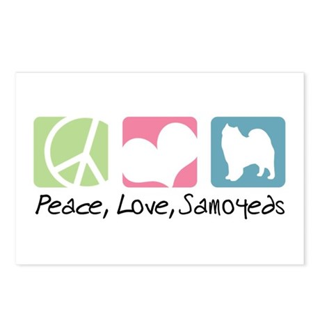 Peace, Love, Samoyeds Postcards (Package of 8)